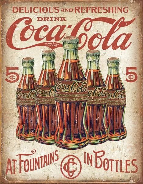 Bilde av Coca-Cola 5 Bottles Retro