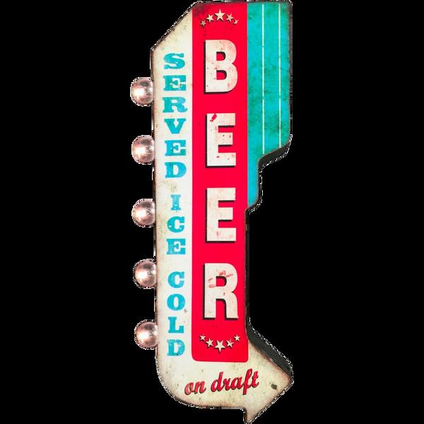 Bilde av Beer Served LED OTW Skilt