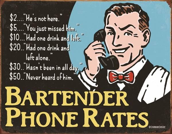 Bilde av Bartenders Phone Rates
