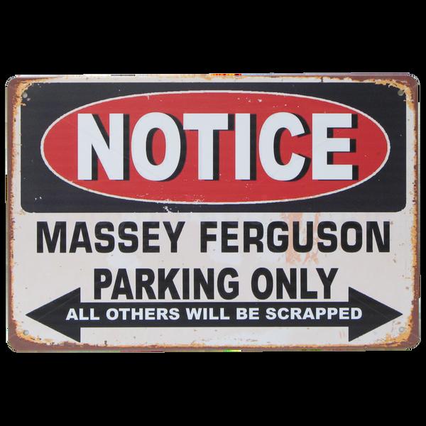 Bilde av Notice Massey Ferguson Parking