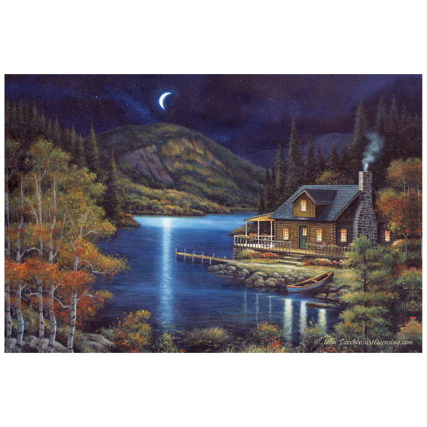 Bilde av Moonlit Cabin
