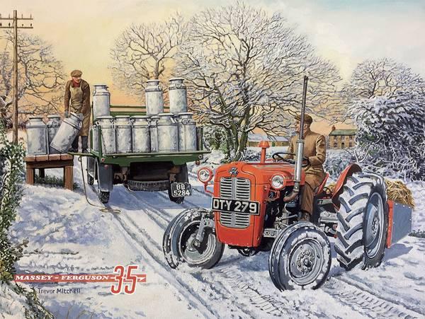 Bilde av Massey Ferguson 35 Winter Morning