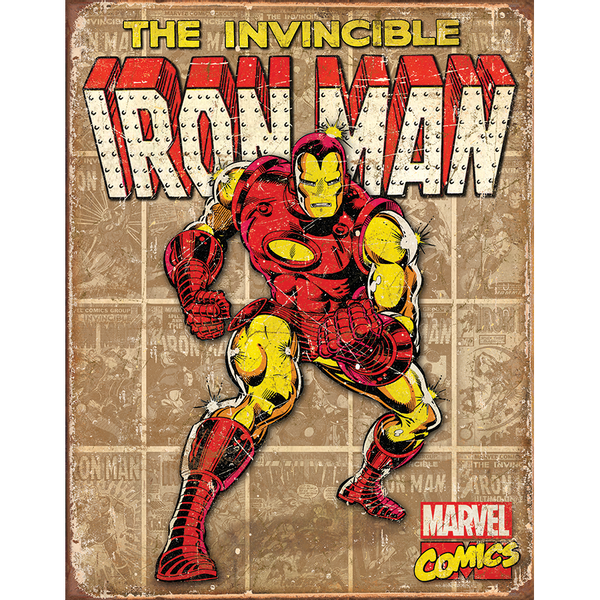 Bilde av Iron Man Retro Panel