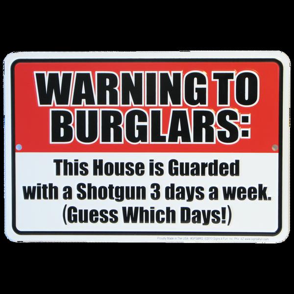 Bilde av Warning to Burglars