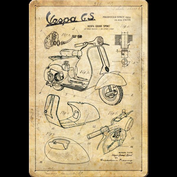 Bilde av Vespa Parts Sketches