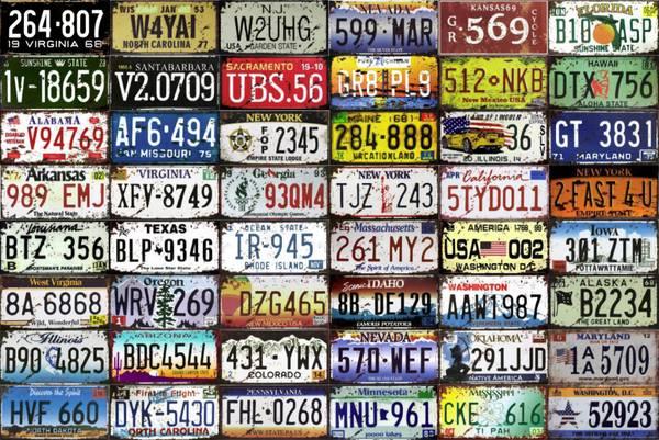 Bilde av Dekorpakke License Plate 10-pakk