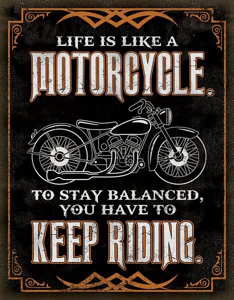 Bilde av Life is Like a Motorcycle