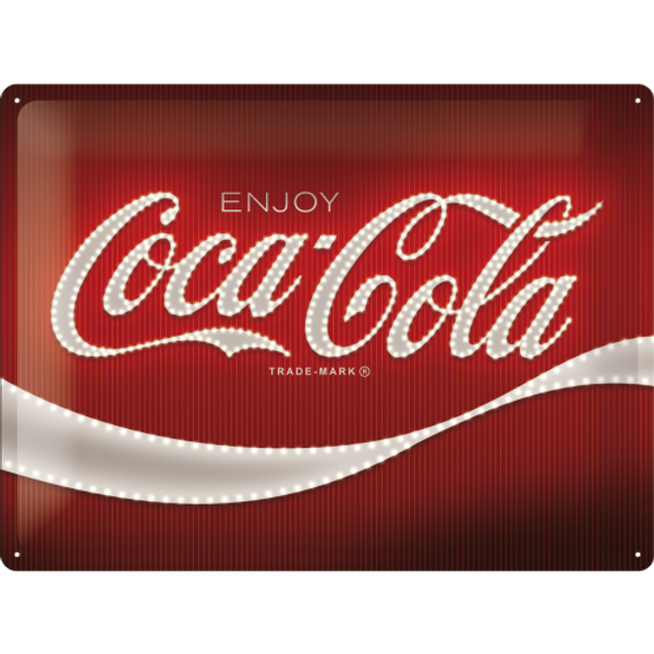 Bilde av Coca-Cola Logo Red Lights