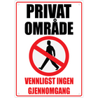 Privat Område A4