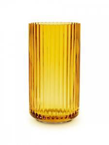 Bilde av Lyngby vase amber 20cm