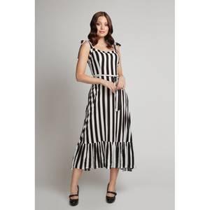 Bilde av Collectif Utsvingt kjole Katrina, Stripete sort/hvit