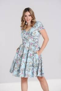 Bilde av Hell Bunny utsving kjole Attina, lysblå m/mønster