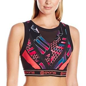 Bilde av Skins DNAmic Sports-BH Vest crop top, Junkyard geo