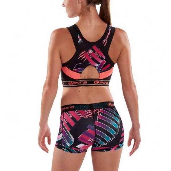 Skins DNAmic Sports-BH Vest crop top, Junkyard geo