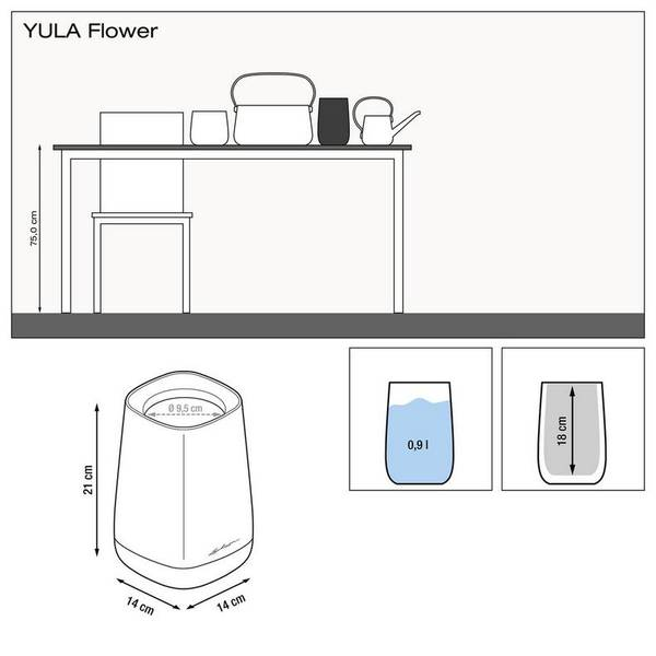 Lechuza YULA Flower, vase til snittblomster