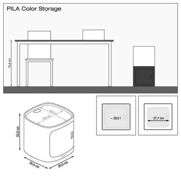 Lechuza PILA Color Storage, Sandbrun