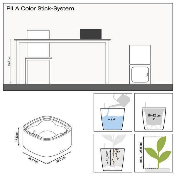 Lechuza PILA Color Stick System, Pastellgrønn