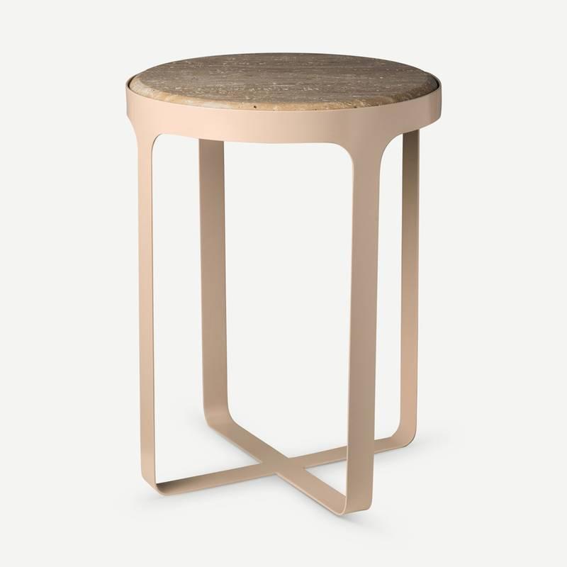 Bilde av Side Table Stoner Beige - Pols Potten