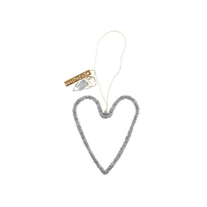 Bilde av Glitter Heart Silver - Walther & Co