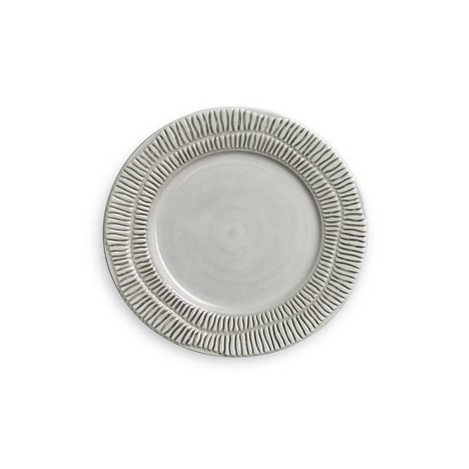 Bilde av Stripes Plate 20 Grey - Mateus