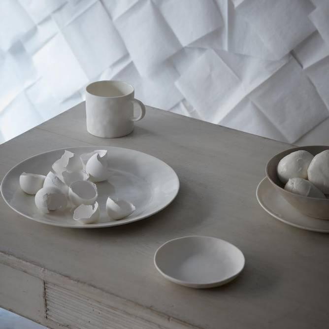 Bilde av Cup With Handle White - Kajsa Cramer