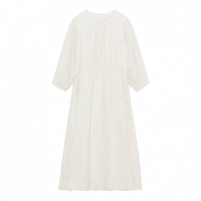Bilde av Lucca Dress White/Beige Check - Skall Studio