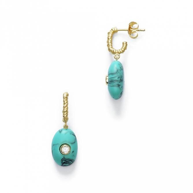 Bilde av Pebble Beach Earring Turquoise Foam - Anni Lu