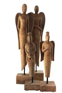 Image of Antique Wood Angel Big 2