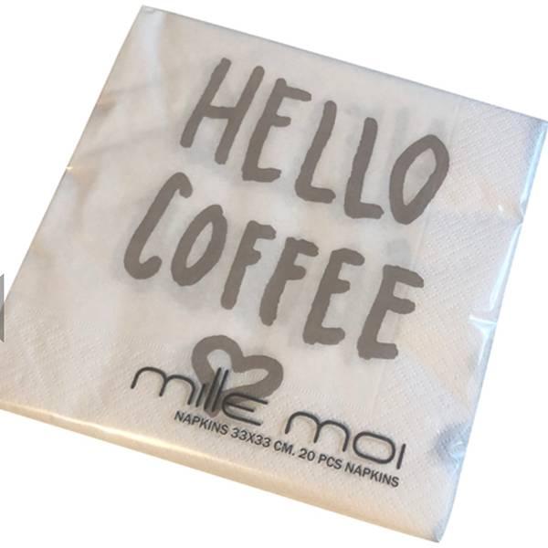 Serviett Hello Coffee