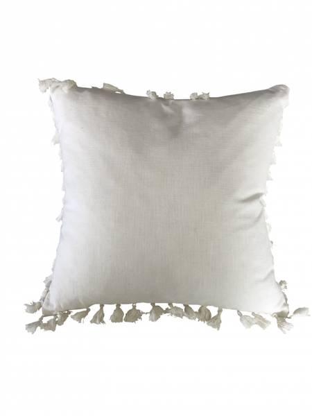 Putetrekk Cotton Linen Blanco m/pong pongs