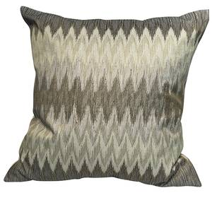 Image of cushion cover zig zag green