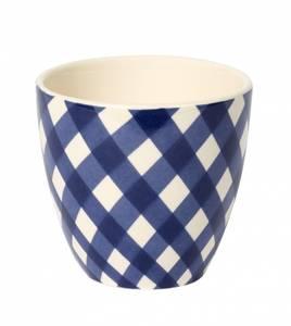Image of XL Mug check blue