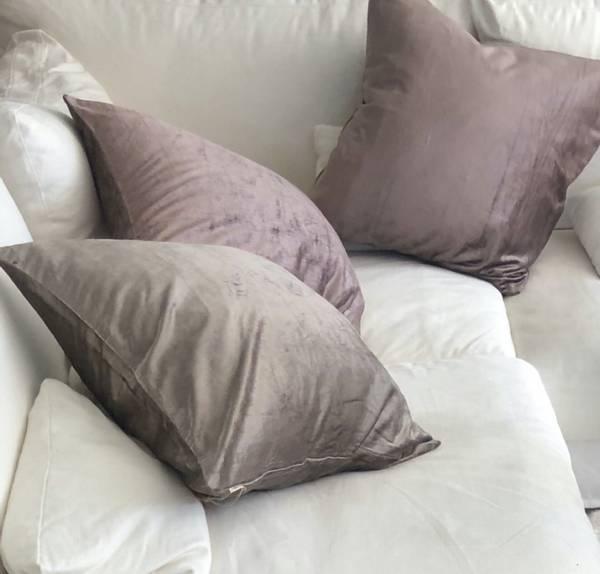 Cushion Cover Velvet Glam Dark Plum