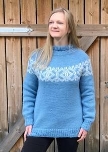 Bilde av MorfarMønster genser VAMS garn dame