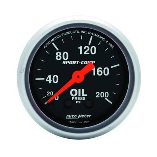 Bilde av 2-1/16'' Autometer Sport Comp Oljet.0-200 psi