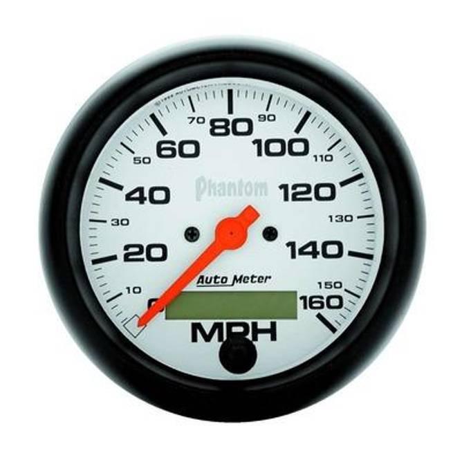 Bilde av 3-3/8in Phantom Electric Speedo 0-160MPH
