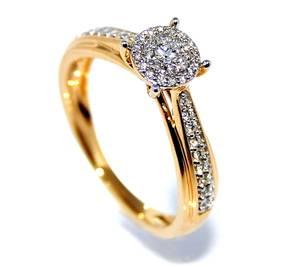Bilde av Diamantring i gult gull med diamanter 0.25ct w.si