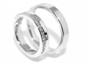 Bilde av Gifteringer SuperDeal i hvitt gull m/diamanter 0.17