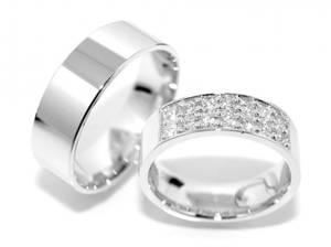 Bilde av Gifteringer SuperDeal hvitt gull m/diamanter