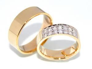 Bilde av Gifteringer SuperDeal gult gull med diamanter