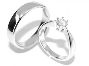 Bilde av Gifteringer SuperDeal med diamanter 0.30 carat river.si GIA