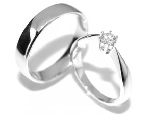 Bilde av SUPERDEAL! Gifteringer med diamanter 0.20 carat w.si