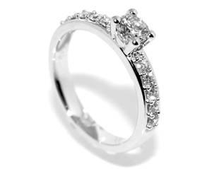 Bilde av Frierring hvitt gull diamanter 0.65ct GIA