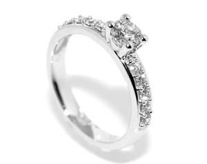 Bilde av Frierring i hvitt gull m/ diamanter 0.47ct GIA