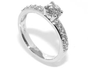 Bilde av Frierring hvitt gull diamanter 0.75ct tw.si GIA