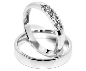 Bilde av Gifteringer SuperDeal hvitt gull 0.21 carat w.si