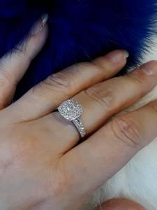 Bilde av Forlovelsesring i hvitt gull med diamanter 1.00ct tw.si