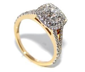 Bilde av Forlovelsesring i gult gull med diamanter 1.00ct tw.si