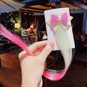 Bilde av Hårspenne Rosa og hvit sløyfe med rosa og hvitt