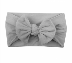 Bilde av Bowknot Turban Headwrap lys grå